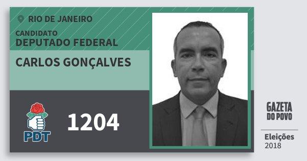 Santinho Carlos Gonçalves 1204 (PDT) Deputado Federal | Rio de Janeiro | Eleições 2018