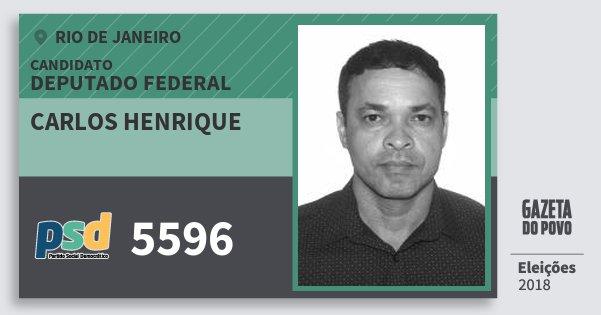 Santinho Carlos Henrique 5596 (PSD) Deputado Federal | Rio de Janeiro | Eleições 2018