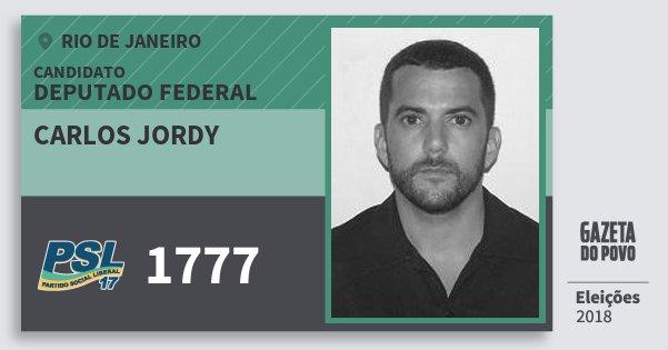 Santinho Carlos Jordy 1777 (PSL) Deputado Federal | Rio de Janeiro | Eleições 2018