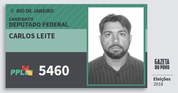Santinho Carlos Leite 5460 (PPL) Deputado Federal | Rio de Janeiro | Eleições 2018