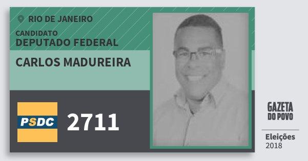 Santinho Carlos Madureira 2711 (DC) Deputado Federal | Rio de Janeiro | Eleições 2018