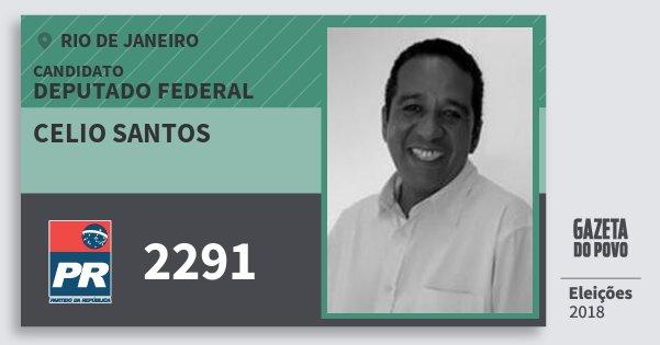 Santinho Celio Santos 2291 (PR) Deputado Federal | Rio de Janeiro | Eleições 2018
