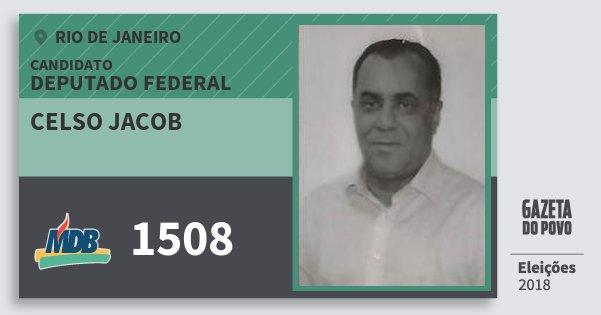 Santinho Celso Jacob 1508 (MDB) Deputado Federal | Rio de Janeiro | Eleições 2018