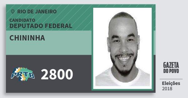 Santinho Chininha 2800 (PRTB) Deputado Federal | Rio de Janeiro | Eleições 2018