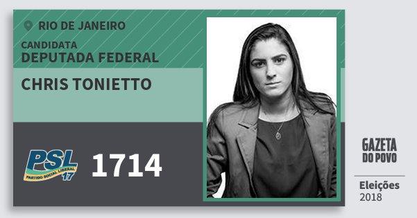 Santinho Chris Tonietto 1714 (PSL) Deputada Federal | Rio de Janeiro | Eleições 2018