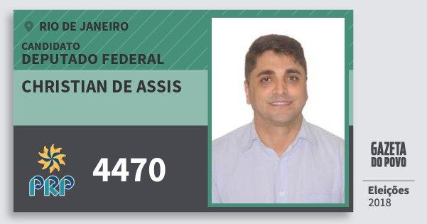Santinho Christian de Assis 4470 (PRP) Deputado Federal | Rio de Janeiro | Eleições 2018