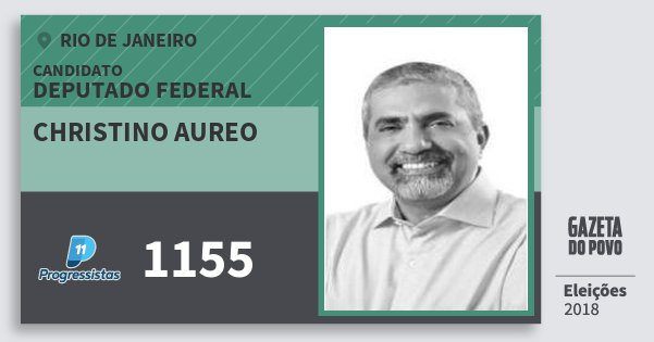 Santinho Christino Aureo 1155 (PP) Deputado Federal | Rio de Janeiro | Eleições 2018