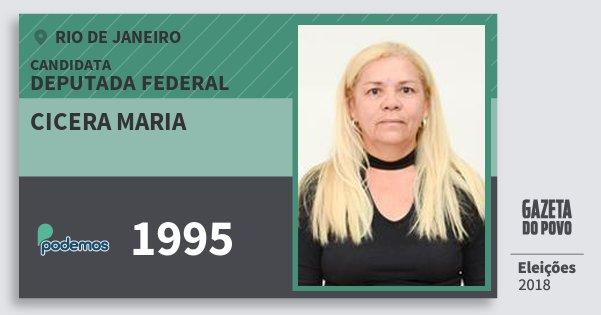 Santinho Cicera Maria 1995 (PODE) Deputada Federal | Rio de Janeiro | Eleições 2018