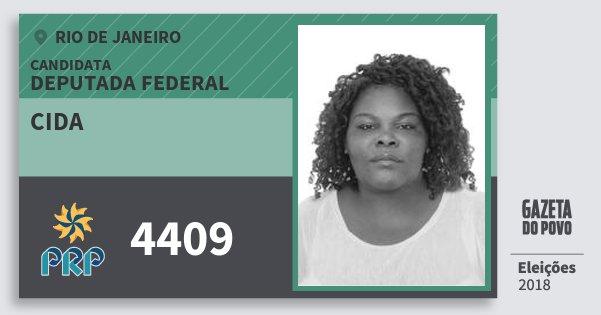 Santinho Cida 4409 (PRP) Deputada Federal | Rio de Janeiro | Eleições 2018