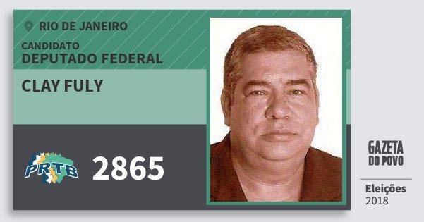 Santinho Clay Fuly 2865 (PRTB) Deputado Federal | Rio de Janeiro | Eleições 2018