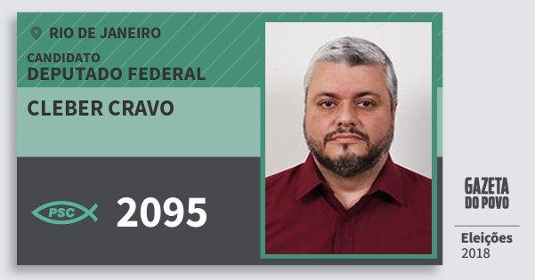 Santinho Cleber Cravo 2095 (PSC) Deputado Federal | Rio de Janeiro | Eleições 2018