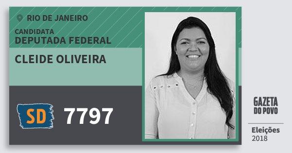 Santinho Cleide Oliveira 7797 (SOLIDARIEDADE) Deputada Federal | Rio de Janeiro | Eleições 2018