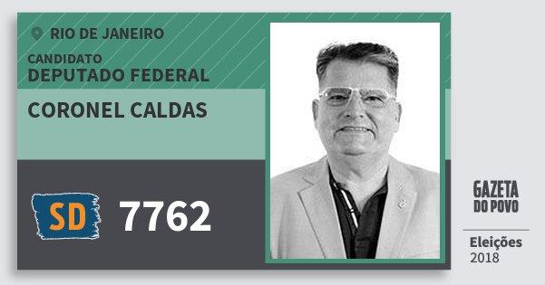 Santinho Coronel Caldas 7762 (SOLIDARIEDADE) Deputado Federal | Rio de Janeiro | Eleições 2018