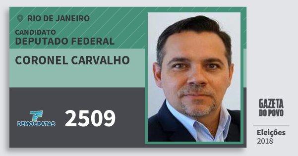 Santinho Coronel Carvalho 2509 (DEM) Deputado Federal | Rio de Janeiro | Eleições 2018