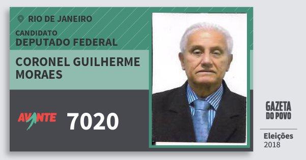 Santinho Coronel Guilherme Moraes 7020 (AVANTE) Deputado Federal | Rio de Janeiro | Eleições 2018