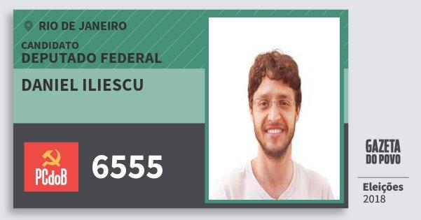 Santinho Daniel Iliescu 6555 (PC do B) Deputado Federal | Rio de Janeiro | Eleições 2018
