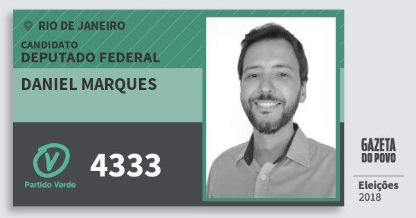 Santinho Daniel Marques 4333 (PV) Deputado Federal | Rio de Janeiro | Eleições 2018