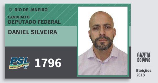 Santinho Daniel Silveira 1796 (PSL) Deputado Federal | Rio de Janeiro | Eleições 2018
