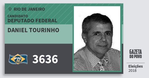 Santinho Daniel Tourinho 3636 (PTC) Deputado Federal | Rio de Janeiro | Eleições 2018
