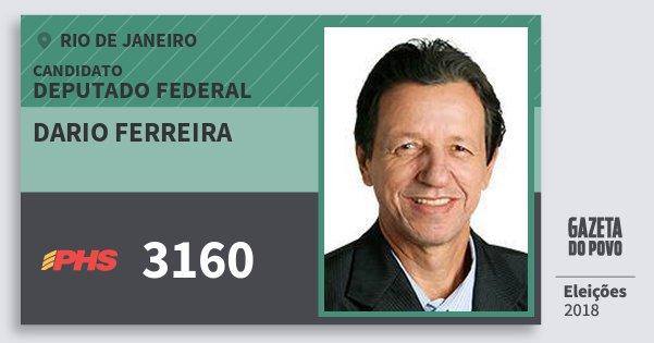 Santinho Dario Ferreira 3160 (PHS) Deputado Federal | Rio de Janeiro | Eleições 2018