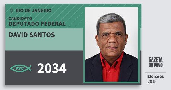 Santinho David Santos 2034 (PSC) Deputado Federal | Rio de Janeiro | Eleições 2018