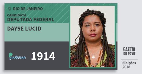 Santinho Dayse Lucid 1914 (PODE) Deputada Federal | Rio de Janeiro | Eleições 2018