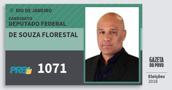 Santinho de Souza Florestal 1071 (PRB) Deputado Federal | Rio de Janeiro | Eleições 2018