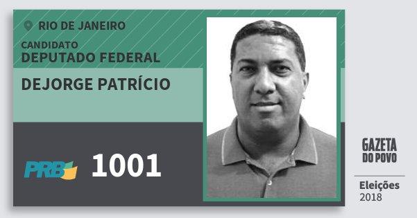 Santinho Dejorge Patrício 1001 (PRB) Deputado Federal | Rio de Janeiro | Eleições 2018