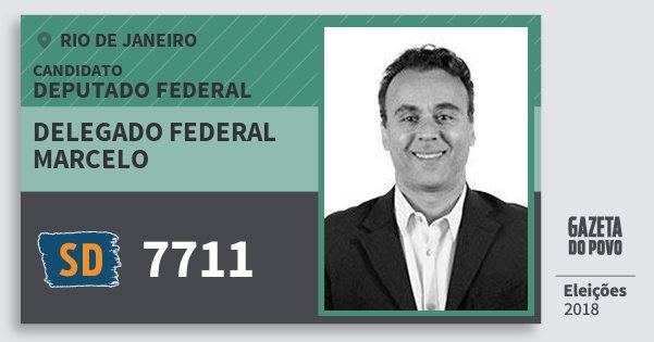 Santinho Delegado Federal Marcelo 7711 (SOLIDARIEDADE) Deputado Federal | Rio de Janeiro | Eleições 2018