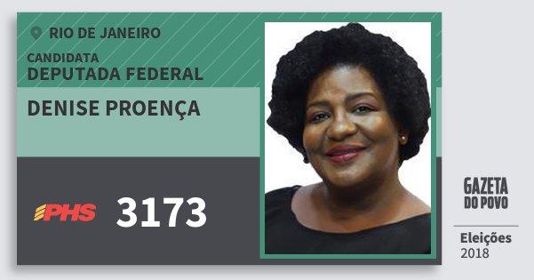 Santinho Denise Proença 3173 (PHS) Deputada Federal | Rio de Janeiro | Eleições 2018