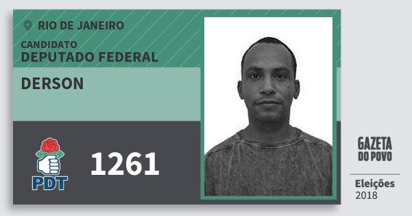 Santinho Derson 1261 (PDT) Deputado Federal | Rio de Janeiro | Eleições 2018