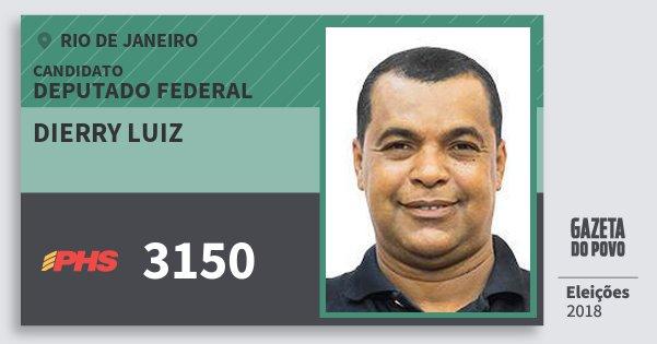 Santinho Dierry Luiz 3150 (PHS) Deputado Federal | Rio de Janeiro | Eleições 2018