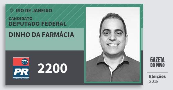 Santinho Dinho da Farmácia 2200 (PR) Deputado Federal | Rio de Janeiro | Eleições 2018