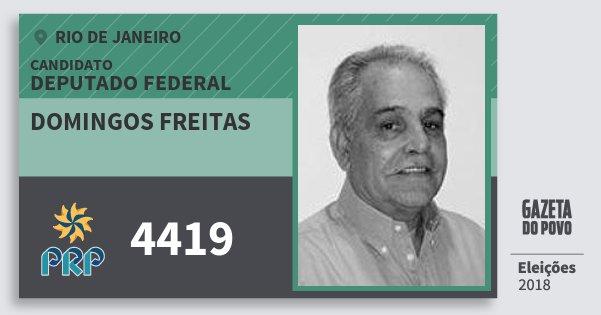 Santinho Domingos Freitas 4419 (PRP) Deputado Federal | Rio de Janeiro | Eleições 2018
