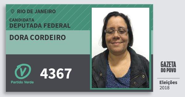 Santinho Dora Cordeiro 4367 (PV) Deputada Federal | Rio de Janeiro | Eleições 2018