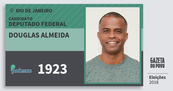 Santinho Douglas Almeida 1923 (PODE) Deputado Federal | Rio de Janeiro | Eleições 2018