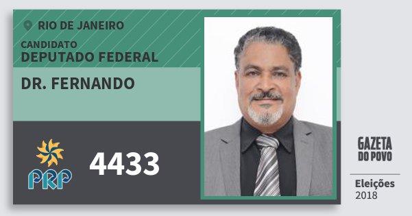 Santinho Dr. Fernando 4433 (PRP) Deputado Federal | Rio de Janeiro | Eleições 2018
