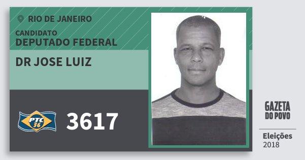 Santinho Dr Jose Luiz 3617 (PTC) Deputado Federal | Rio de Janeiro | Eleições 2018