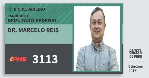 Santinho Dr. Marcelo Reis 3113 (PHS) Deputado Federal | Rio de Janeiro | Eleições 2018