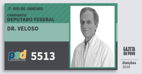 Santinho Dr. Veloso 5513 (PSD) Deputado Federal | Rio de Janeiro | Eleições 2018