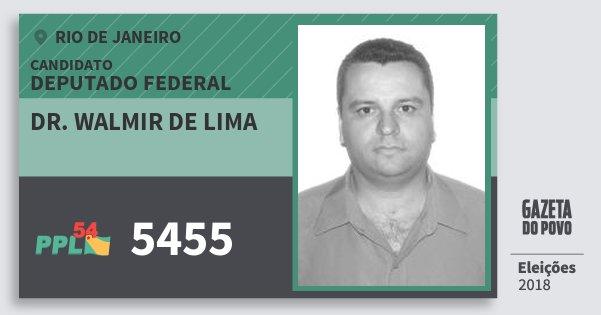 Santinho Dr. Walmir de Lima 5455 (PPL) Deputado Federal | Rio de Janeiro | Eleições 2018