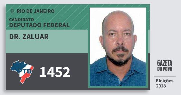 Santinho Dr. Zaluar 1452 (PTB) Deputado Federal | Rio de Janeiro | Eleições 2018