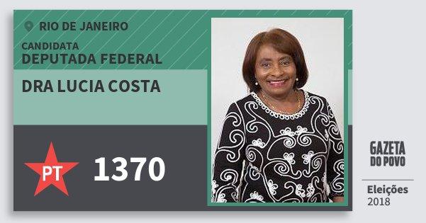 Santinho Dra Lucia Costa 1370 (PT) Deputada Federal | Rio de Janeiro | Eleições 2018