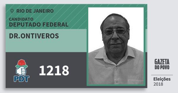 Santinho Dr.ontiveros 1218 (PDT) Deputado Federal | Rio de Janeiro | Eleições 2018