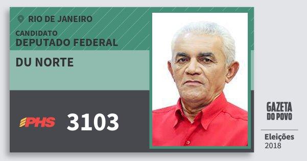 Santinho Du Norte 3103 (PHS) Deputado Federal | Rio de Janeiro | Eleições 2018