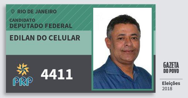 Santinho Edilan do Celular 4411 (PRP) Deputado Federal | Rio de Janeiro | Eleições 2018