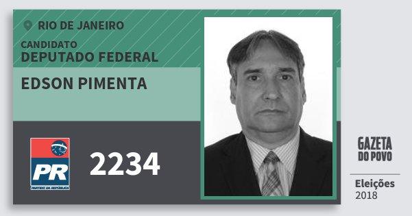 Santinho Edson Pimenta 2234 (PR) Deputado Federal | Rio de Janeiro | Eleições 2018