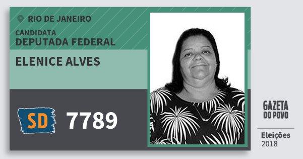 Santinho Elenice Alves 7789 (SOLIDARIEDADE) Deputada Federal | Rio de Janeiro | Eleições 2018