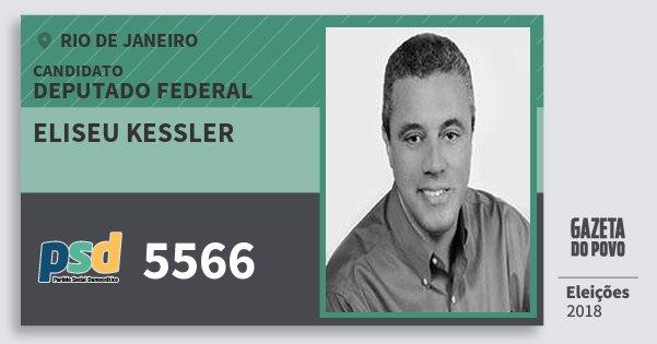 Santinho Eliseu Kessler 5566 (PSD) Deputado Federal | Rio de Janeiro | Eleições 2018