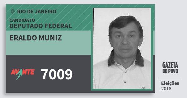 Santinho Eraldo Muniz 7009 (AVANTE) Deputado Federal | Rio de Janeiro | Eleições 2018